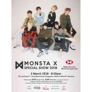 [Urgently WTS] Monsta X Ticket