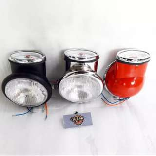 Vespa motif headlamp speedo set for cb