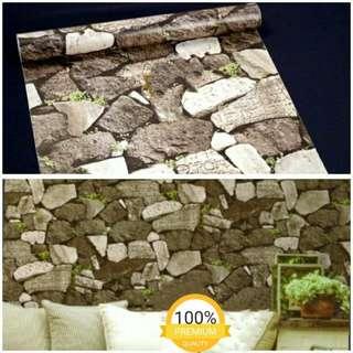 Wallpaper Dinding Motif Batu2
