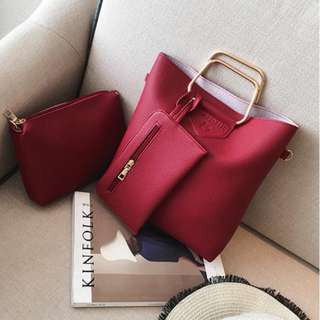 high quality fashion bags 3 in 1