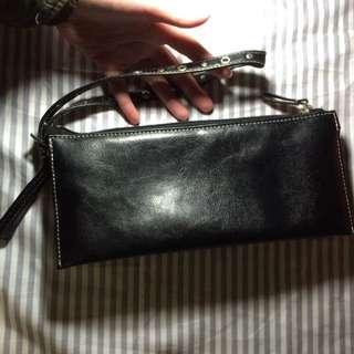 黑色皮包 皮袋 多格 手挽袋