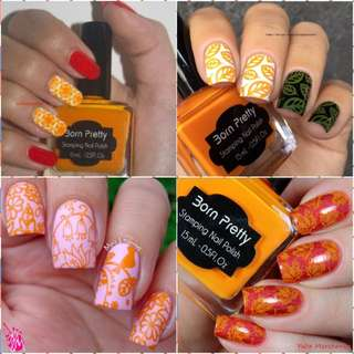 15ml Born Pretty Nail Art Stamping Polish orange Nail Polish