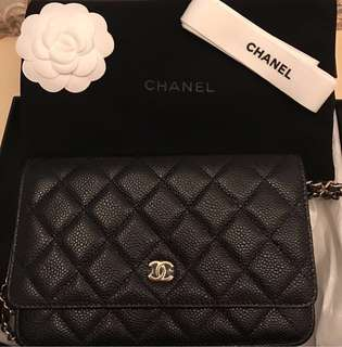 Chanel WOC black caviar ghw #24 complete set with receipt