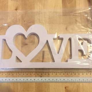 White Wooden LOVE decoration