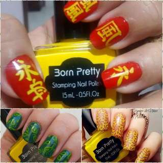 15ml Born Pretty Nail Art Stamping Polish yellow Nail Polish   # 22
