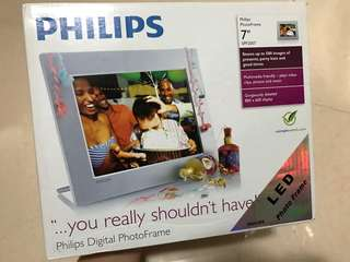 "philips 7"" photo frame 相片播放器"