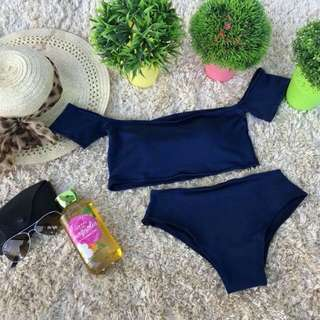 Off Shoulder Two Piece Swimsuit
