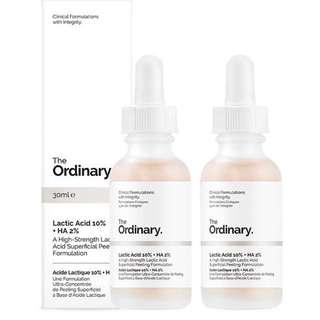 The Ordinary Lactic Acid 5%/10% + HA2%去角質乳酸精華