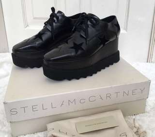 Excellent Stella Mccartney elyse star black size 37 with dustbag and box