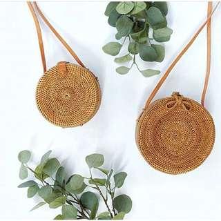 Round Rattan Bag Pita