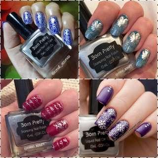 15ml Born Pretty Nail Art Stamping Polish silver Nail Polish   # 2