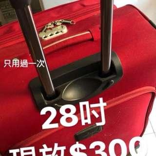 紅色布28吋行李喼