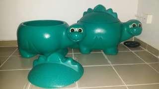 Storage Toys Storage Dinosaur Container Storage Green Storage Container
