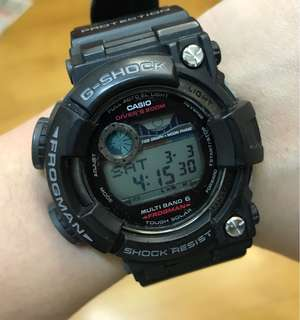 90%NEW G SHOCK FROGMAN GWF-1000-1JF $2680