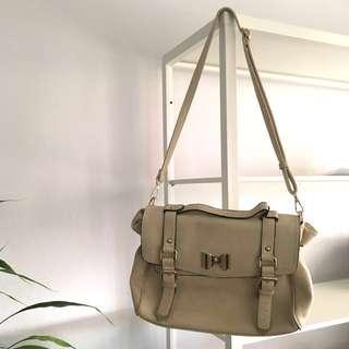 Cream Satchel Bag