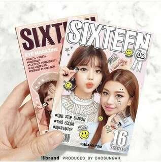 (((新色開放預購!))) 韓國 16BRAND CHOSUNGAH 迷你雜誌眼影 #02櫻花色 HELLO MONDAY 懶人雙色漸層眼影 *預購*