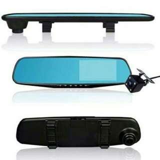 4.3 HD 1080P Dual lens DVR Dash GPS Reverse Mirror Dash Cam