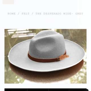 The desperado wild grey Fedora