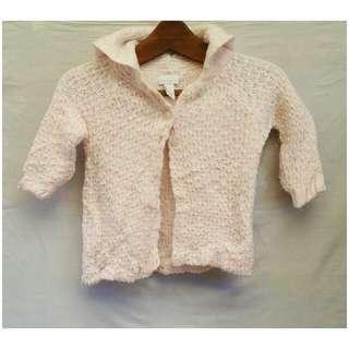 Pastel pink knit cardi