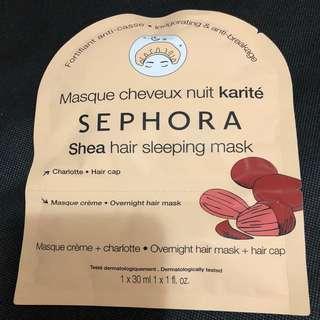 Brand New Auth Sephora Shea Sleeping Hair Mask