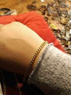 Bracelet / necklace - Gilded Brass