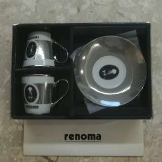 Renoma tea cups and saucers set (new)