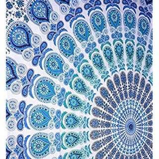 Blue Mandala Wall hanging 90'' x 54''