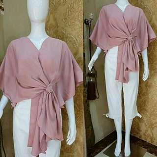 Ec Nowmod pink l atasan fashion baju blouse pink wanita