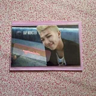 BTS Bangtan Boys RM Rap Monster Kim NamJoon Dark and Wild Official Album Photocard