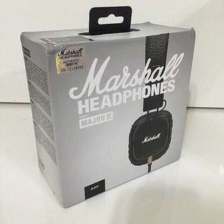 [SALE] Marshall Major II On-Ear Headphones with Mic Headset
