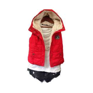 Abercrombie hooded puff chaleco