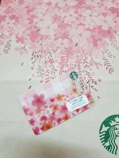 Starbucks cherry blossom 2018 Starbucks card. Pink sakura card