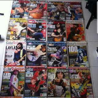 Guitar magazines and instructional books