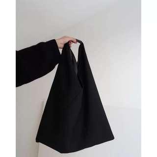 Black women's lazy type single shoulder bag