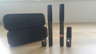 2 Nudestix Magnetic Eye Shadow Pencils in Immortal and Angel
