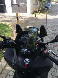 Sym downtown Smnu brake reservoir mobile phone mount