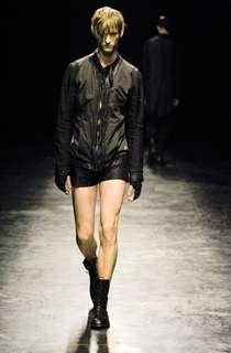 julius leather Jacket tee rick owens fog slp jeans