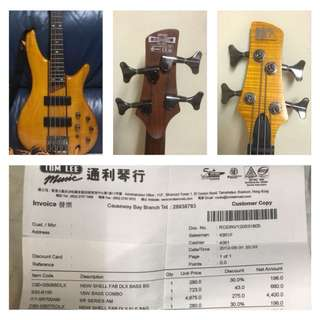 Bass Guitar Active Ibanez SR Series SR700AM 4 String & J&D Brothers JD RM5 5 String