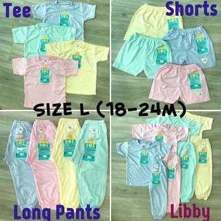 18-24m Libby Tee shorts long pants short sleeve