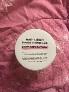 Skin Revolution Snail + Collagen Powder Peel Off Mask