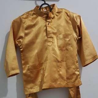 Baju Melayu Budak saiz 22 4-6 tahun