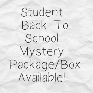 Free Mail! Student Back To School Mystery Package Box