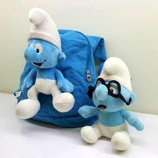 Smurf - bag and soft toy