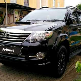 Toyota Fortuner G vnt 2.5 at diesel 2015 hitam