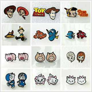 [BUY 2 FREE 1] toy story frozen disney earrings nemo ear studs