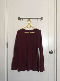 Forever21 Red-Maroon Jumper
