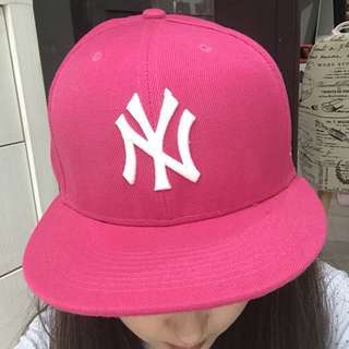 New Era Pink / Fushia Hat WITHOUT Sticker (Authentic) Topi Wanita