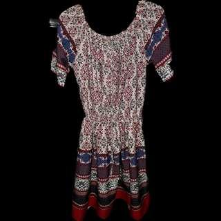 Off shoulder Bohemian dress