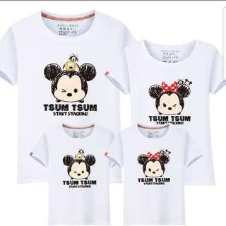 Tsum tsum couple/family tee