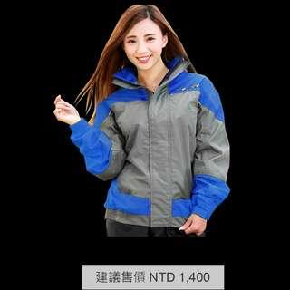 ☆宥鈞 騎士部品☆ M2R M11 兩件式 雨衣 風衣 合身舒適 潮流 創新剪裁 雙層立領 藍/灰色